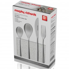Morphy Richards Simplicity 24 Piece Cutlery Set Stainless Steel