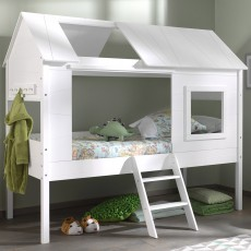 Vipack Charlotte Tree House/Hut Single (90cm) Bed White