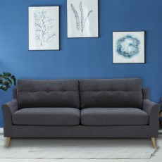Adel 3 Seater Sofa Fabric Charcoal