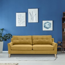 Adel 3 Seater Sofa Fabric Citrus