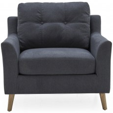 Adel Armchair Fabric Charcoal