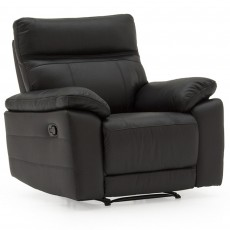 Adolfo Manual Reclining Armchair Leather Black