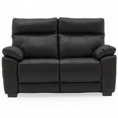 Adolfo 2 Seater Sofa Leather Black