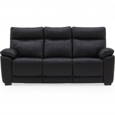 Adolfo 3 Seater Sofa Leather Black