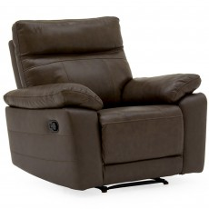 Adolfo Manual Reclining Armchair Leather Brown