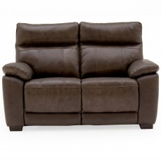 Adolfo 2 Seater Sofa Leather Brown
