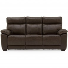 Adolfo 3 Seater Sofa Leather Brown