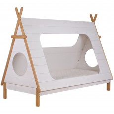 WOOOD Tipi Shaped Single Bed White