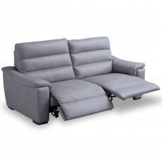 Egoitaliano Marina 2.5 Seater Sofa With 2 Electric Recliners Leather B