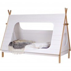 WOOOD Tipi Shaped Single (90cm) Bed White