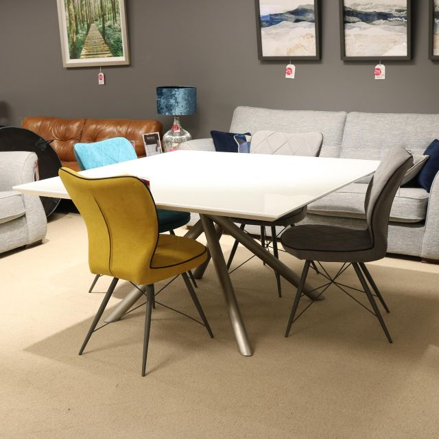 Genova 8 Person Dining Table 4 Chairs