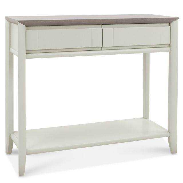 Canneto Grey Washed Oak Soft Grey Console Table Console Tables Meubles