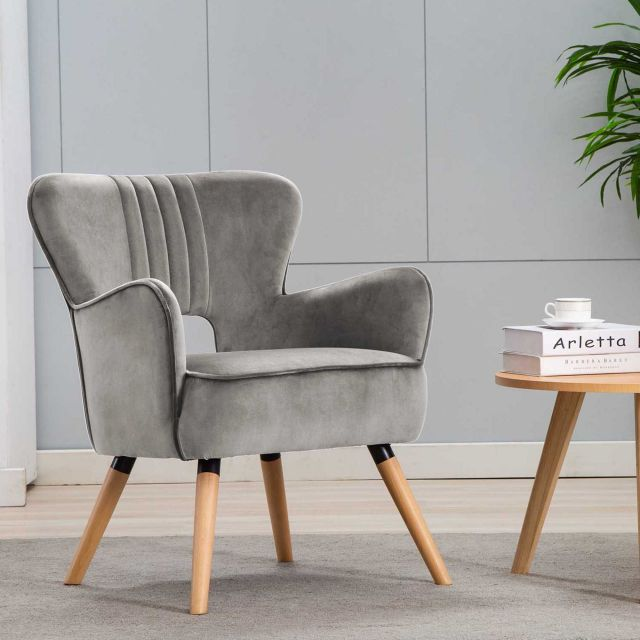 Brody Armchair Fabric Grey Bedroom Chairs Bedroom Stools Meubles