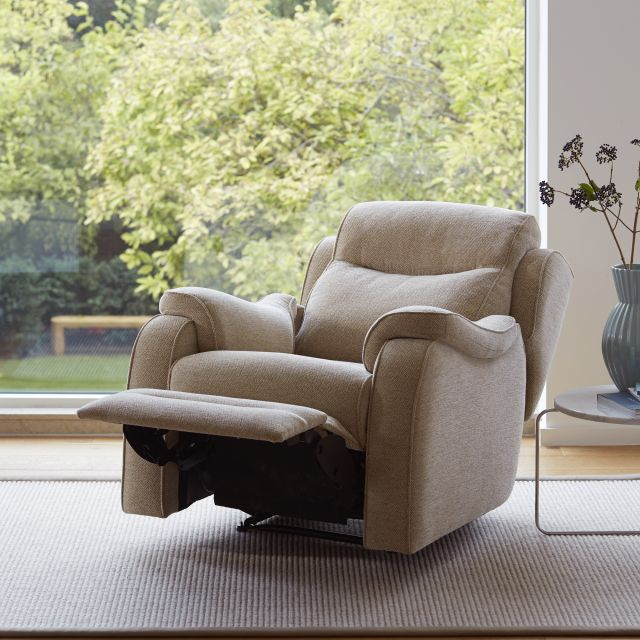 Parker Knoll Boston Power Recliner Armchair Fabric A