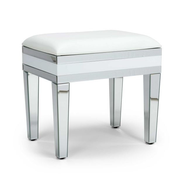 Liberty Bedroom Stool White Silver Meubles