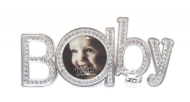 Tipperary Crystal \'Baby\' Diamante Baby Photo Frame - Photo Frames ...