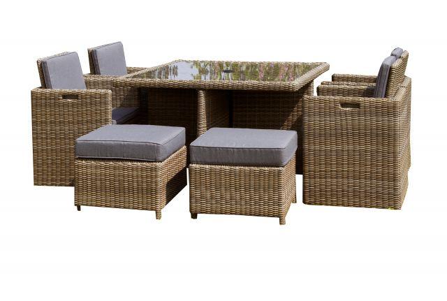 royalcraft wentworth grey 8 seater corner sofa dining set