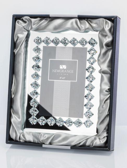"Newgrange Living Diamante 4"" x 6"" Photo Frame In A Fabric Lined Box ..."