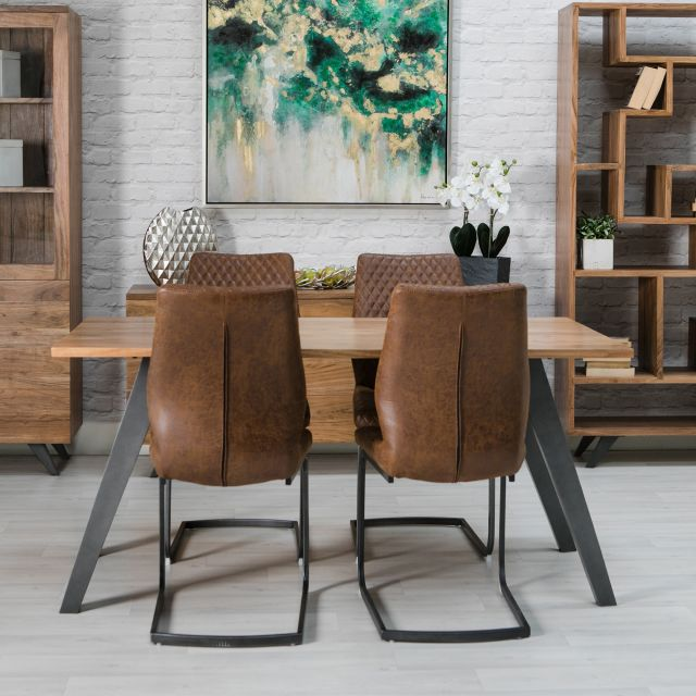 Turnberry Acacia 6 Person Dining Table 4 Turnberry Antique Faux