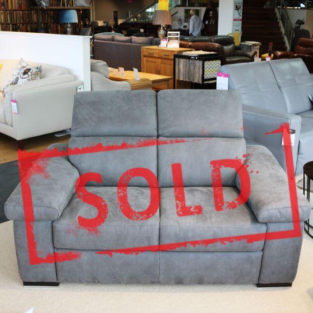 valerie 2 seater sofa fabric microfibre cashmere london smoke
