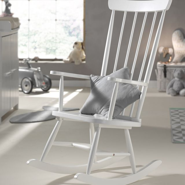 Vipack Rocky Rocking Chair White - Chairs & Stools - Meubles